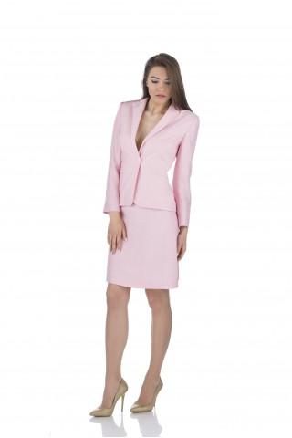 Ленено сако в бледо розово
