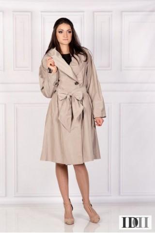 Дамски непромокаем шлифер с голяма шал яка